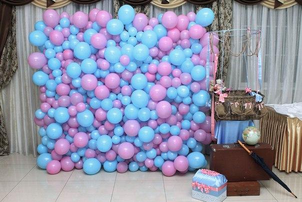 Стена из шаров своими руками 88